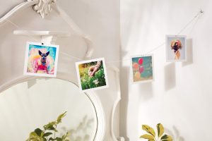 Magnetic Rope: Magnetic ropes are a fun way to display photographs. Just  hang the rope across a wall or sling it from one end of the room to the  other.